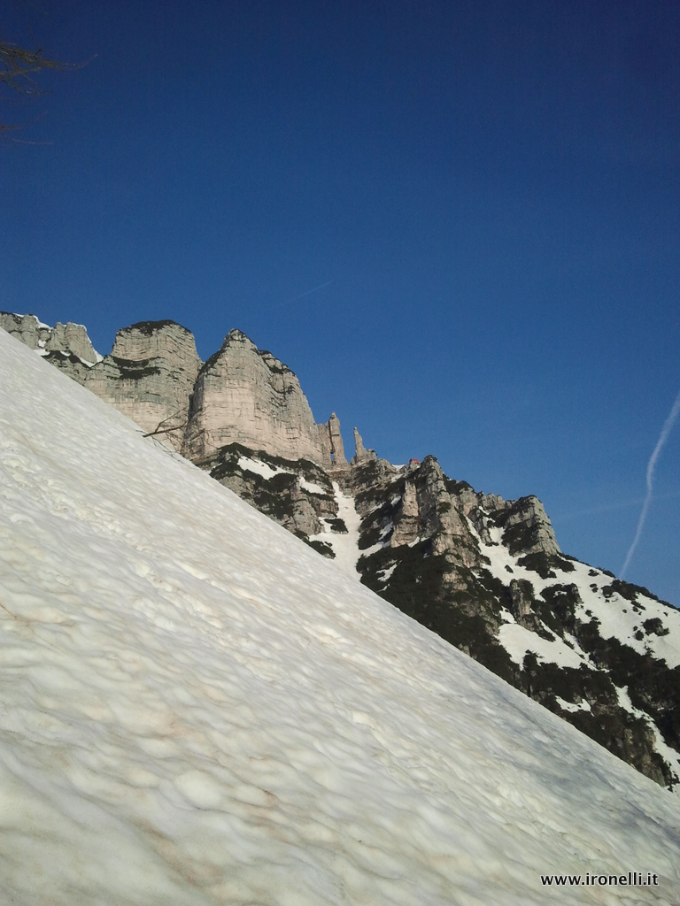 Entrando in Val Larga geometrie ed inclinazioni