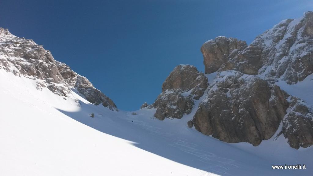Forcella Bachet in veste invernale: freddo, freddo ed ancora freddo.