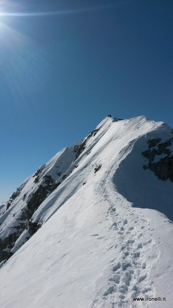 Ultima parte della cresta Vagliana