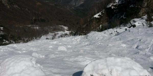 Slalom nella slavina Vajo Cavai