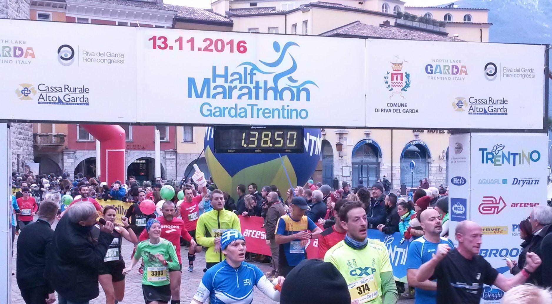 Arrivo Garda Trentino Half Marathon 2016