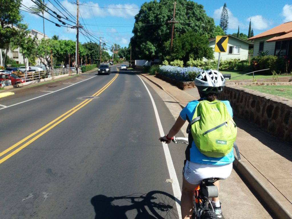 Biking in Lahaina, Maui, Hawaii