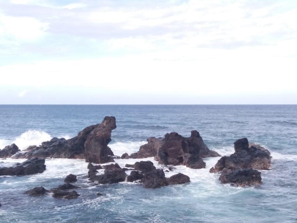 The north shore near Hookipa beach, Maui