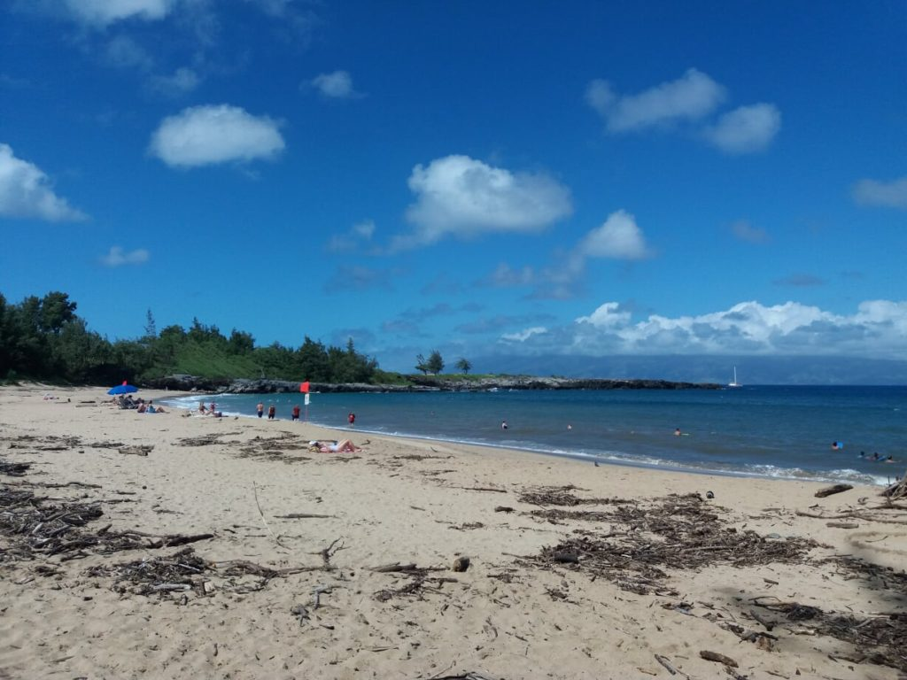 DT Fleming beach in Kapalua, Maui, Hawaii; start of the XTerra World Championship