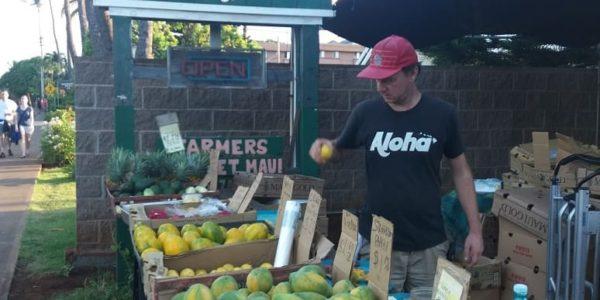 Farmers market in Lahaina, Maui, Hawaii