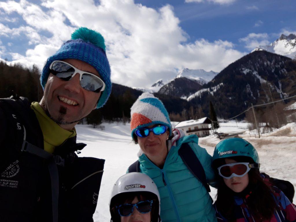 In tarda mattinata sciatina allo skilift di Rio Bianco