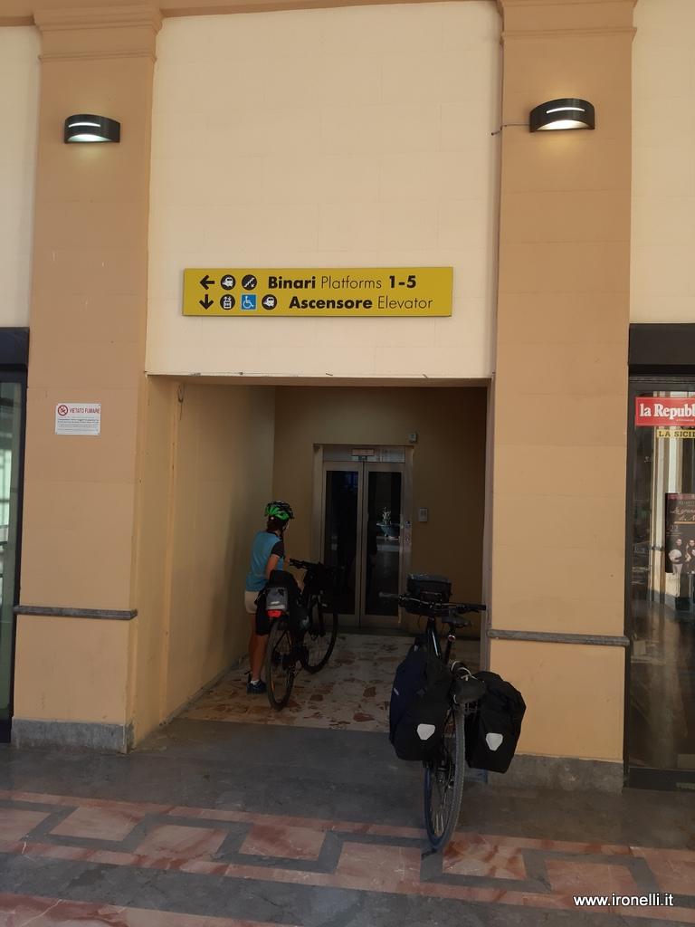 Ascensore per le bici ad Agrigento